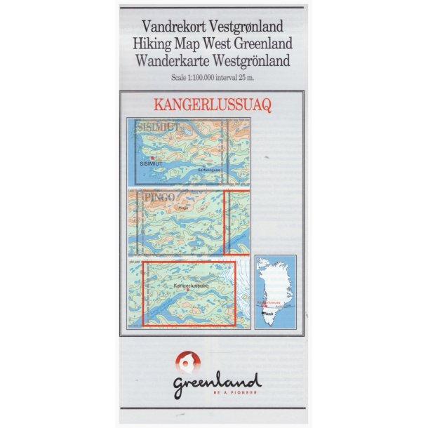 Vandrekort Kangerlussuaq